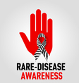 RareDisease Awareness sign vector image vector image