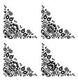Corner border Polish folk embroidery pattern vector image vector image