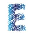 sketched letter E vector image