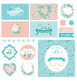 Baby Scrapbook Party Set - Flower Theme vector image vector image
