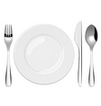 place setting vector image
