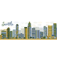 Abstract Seattle City Skyline vector image