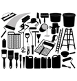 painting objects and elements vector image vector image