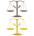 justice scale isolated on white background vector image vector image