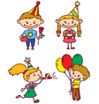birthday children vector image