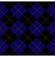 Black Royal Blue Diamond Background vector image