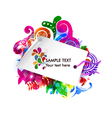 shopping tag with colorful floral vector image