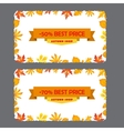 Card with discount of 50 70 percent Autumn flyer vector image