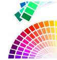 color spectrum palette background vector image