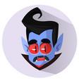 happy cartoon dracula head vector image