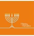 Jewish Menorah icon vector image