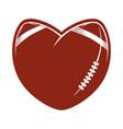 love concept american football logo vector image