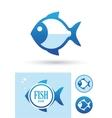 Round fish icon vector image
