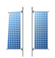 solar panels ecological power sources set vector image