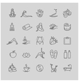 Thin line yoga icons health life icon set vector image