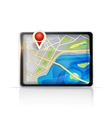GPS map vector image