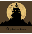 Misterious house in the dark night Halloween vector image