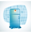 cartoon - refrigerator vector image