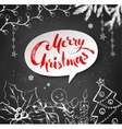 Christmas of festive objects vector image