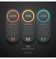 Infographics elements numbers template vector image