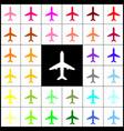 airplane sign   felt-pen 33 vector image