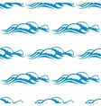 Seamless pattern of white capped waves vector image