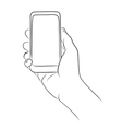 Hands Holding the Smart Phone vector image