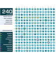 240 icons set vector image