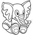 elephant toy vector image