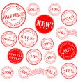 retail stamp set vector image vector image