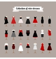 Retro woman dresses vector image