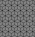 Abstract isometric 3d cube pattern background vector image