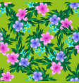 abstract spring seamless pattern with floral green vector image