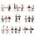 Business people meeting isolated on white vector image