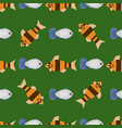exotic tropical fish race seamless pattern vector image