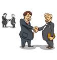 smiling businessmen vector image