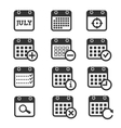Time date and calendar icons vector image