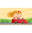 kids in car vector image vector image