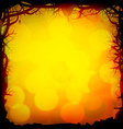 Halloween Forest Background vector image