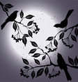 Birds on the branch during summers night vector image