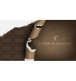 chocolate bar in paper packaging vector image