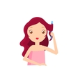 Girl With Fluting Iron vector image