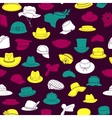 Seamless pattern with flat icons of headwear vector image