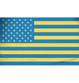 Flags of countries Ukraine and USA combined vector image