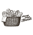 bread bakery hand drawn sketch of food vector image