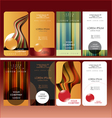 bussines card set vector image