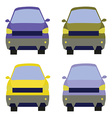 Cars front view vector image