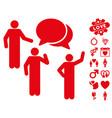 forum icon with valentine bonus vector image
