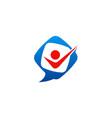 happy people leader talk logo vector image
