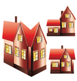 Three Houses Set vector image